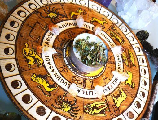 Ruota dell'Anno Pirografata - TheMagicWood.com
